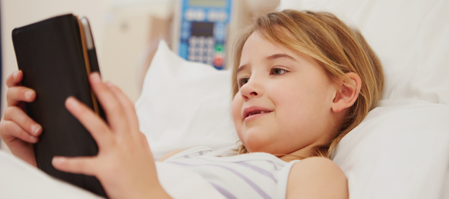 Tablets to reduce children anxiety in hospital