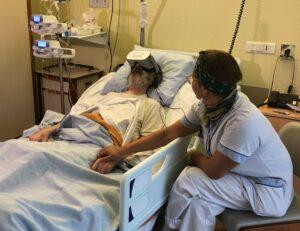 Les casques de réalité virtuelle Healthy Mind employés pour la prise en charge de l'anxiété en soins palliatifs.